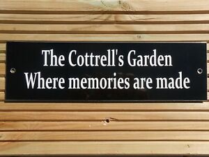 GARDEN SIGN WELCOME BBQ PARTY PUB MOM DAD NAN GRANDAD SIGN PERSONALISED & NEW!