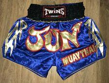 Twins Special Muay Thai mens blue shorts size L