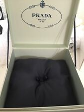 Prada Milano DAL 1913 Parfums Cosmetic/Jewelry Vanity Box Green Case container.