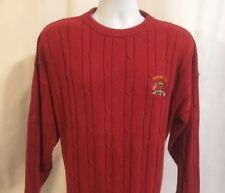 La Mode Cable Knit Pullover Sweater Men's XL Red Ryder Cup Oak Hill Chest Emblem
