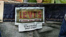 "(NEW) Men's LEVI'S Slim Straight blue 34"" X 30"" jeans"