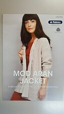 Patons Pattern Book #0036 Mod Aran Jacket to Knit in Totem Merino 8 Ply