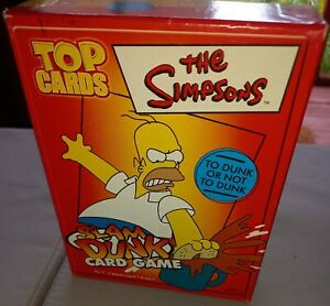 THE SIMPSONS SLAM DUNK CARD GAME WINNING MOVES REINER KNIZIA COMPLETE VGC