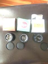Three Holga Toy Lens For Canon, 120 Or 135 Camera's