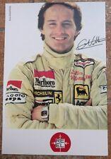 Cartolina Gilles Villeneuve Ferrari F.1 R.E.E.L.Postcard Gilles Villeneuve