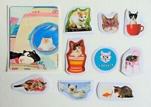 1 Vintage & new Cat sticker lot #2