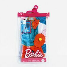 Barbie Ken Fashion Pack Tennis Outfit Racket Ball In Reusable Zip Pack - New!