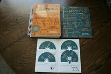 Math 5 Teaching Text Books Complete Set with CDs by Greg Sabouri Home School