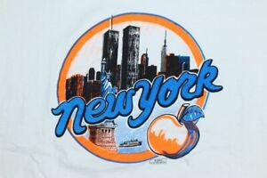 VTG 90s New York Big Apple White Shirt World Trade Center Twin Towers Shirt