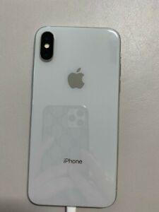 Apple iPhone X 256GB Silver Unlocked Mobile Smart iOS phone A1901 B Grade