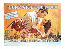 Gone With The Wind Decorative Movie Poster Tin Screw-In Wall Plate Metal Plaque