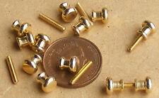 1:12 Scale 12 Brass Door Knobs (6 Pair)  Dolls House Miniature Building DIY 622