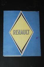 Ancien dépliant Usine Renault - catalogue - brochure - publicité - prospectus