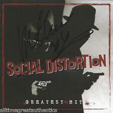 MIKE NESS SIGNED AUTHENTIC SOCIAL DISTORTION GREATEST HITS CD COVER BOOKLET COA