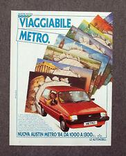 G046-Advertising Pubblicità-1984 - AUSTIN ROVER VIAGGIABILE METRO ' 84