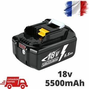 Batterie Pour Makita 18V 5.5Ah Chargeur Indicateur LED Remplacement Echange BL