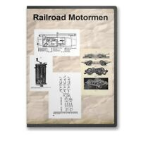 Railroad Motorman Conductor - 4 Historic Train Books CD  D325