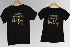 I got myself a hubby wifey personalised tshirts top couple anniversary wedding