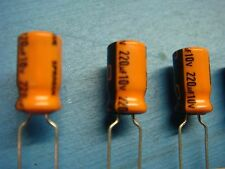 (50) SPRAGUE 515D227M010AA6A 220uf 10V 85° Radial Electrolytic Capacitor NEW USA