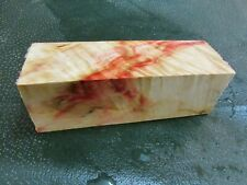 FF- FLAME BOX ELDER BURL  DELUXE KNIFE BLOCK/SCALES/ CALLS/ PEN BLANKS--F--A--1