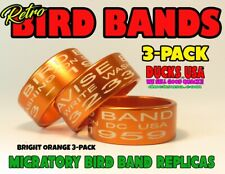 Duck Call Bands Retro Migratory Bird Band Style Special 3-Pack Bright Orange