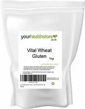 Yourhealthstore Premium Vital Gluten de blé farine 1 kg, non OGM, végétalien.