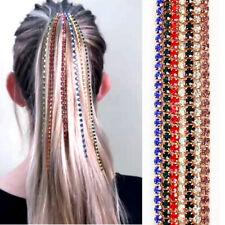 Fashion Women Hair Accessories Long Crystal Tassel Head Chain Female Hair Clip