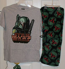 Star Wars Boba Fett Pajama Pants Lounge PJ 2 Piece Set Mens Size Large NWT