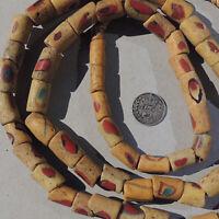 33 inch 84cm strand old okoso akosu recycled powder glass beads ghana #1812