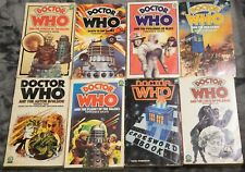 8 vintage Doctor Who Target book novelizations and crossword Terrance Dicks