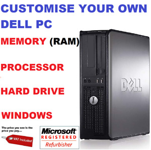FAST DELL OPTIPLEX COMPUTER TOWER DESKTOP PC CUSTOMISE RAM HDD PROCESSOR WINDOWS