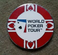 "World Poker Tour Silver Medallion (Card Marker, Chip) 2.5"" smooth Edge, WPT Logo"