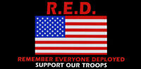 R.E.D. Remember Everyone Deployed Support Our Troops USA Decal Bumper Sticker
