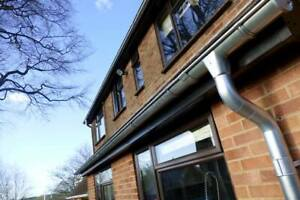 Galvanised Steel Guttering System, Eco Friendly, Strong Solid and Great Looking