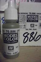 MODEL HOBBY PAINT 17ml BOTTLE  VAL886  AV Vallejo Model Color - Green Grey