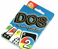 DOS-Brand New Mattel Card Game Sealed Package  FROM THE MAKERS OF THE GAME UNO