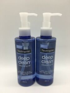 2x 200ml Neutrogena Deep Clean Cleansing Oil Face Make-Up Remover - Free Post