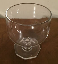 Antique Rummer Glass 19th c. Polished Pontil England Water Wine Hollow Stem Vase