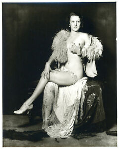 Sumptuous Alfred Cheney Johnston Photograph Risqué Ziegfeld Follies Showgirl