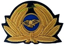 More details for pilot badge for cap generic badge airline cap badge gold (high quality) new
