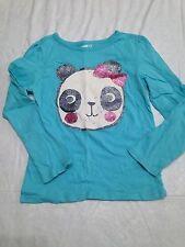 EUC sz 5t Crazy8 Gymboree Blue Glitter Panda top