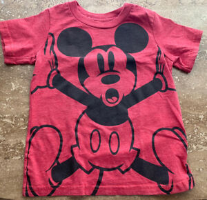 Disney~Toddlers~Red Mickey Mouse T Shirt~XXS 2/3