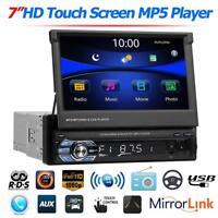7in 1DIN Pantalla Táctil Bluetooth HD Car Estéreo GPS MP5 Player AM FM Radio USB