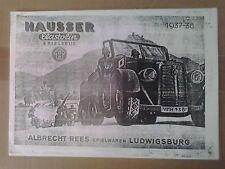Elastolin Hausser Katalog 1937/ 38 Spielzeugkatalog