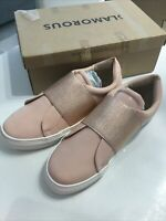 Glamorous Nude Pink Elastic Slip On Band  Pumps Shoes  Trainers Size UK  3