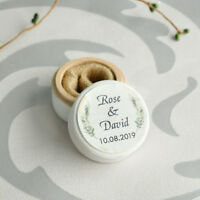 Custom Ring Bearer Holder Rustic Wedding Ring Box Engagement Gift Personalized