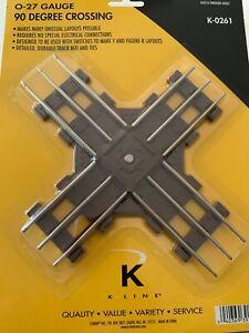 K-LINE K-0261 O-27 GAUGE TUBULAR 90 DEGREE CROSS TRACK New K-261