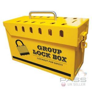 Medium Yellow Portable Group Lockout Box - fits 13 Locks