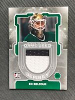 2012-13 ITG BETWEEN THE PIPES ED BELFOUR GAME-USED JERSEY SILVER #M-05