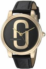 Marc Jacobs Corie 36mm Rose Gold Tone Black Leather Women's Watch MJ1578 SD